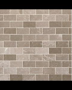 Marshalls Sebastian Grey Polished Limestone Mosaic - 96x48mm