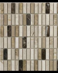 Emperador Mix Polished Marble Mosaic 15x50mm