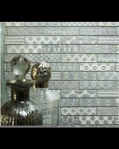 Nevada Blanco Polished Marble Mosaic 23x100mm