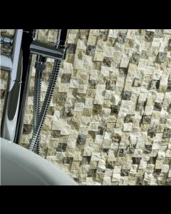 Tarragona Mix Split Finish Travertine Mosaic 25x25mm