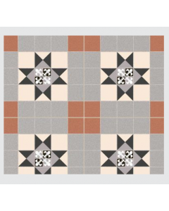 Continental Tiles Dual Gres Heritage Collection Sailsbury Feature Wall and Floor Tiles 45x45