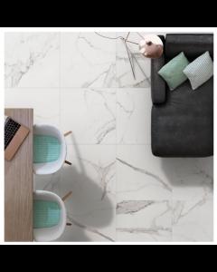 Halcon Ceramica Palatina Tiles White Gloss Porcelain Wall and Floor Tiles 60x60