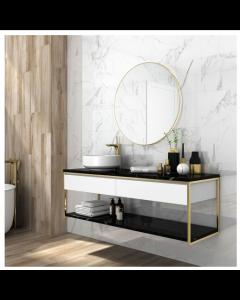Halcon Ceramica Palatina White Gloss Porcelain Wall and Floor Tiles 60x30
