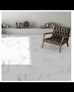 Halcon Ceramica Palatina White Porcelain Matt Wall and Floor Tiles 60x30