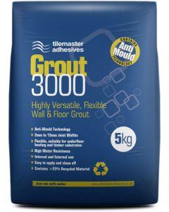 Tilemaster Adhesives Grout 3000 Natural Grey 5kg