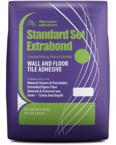 Tilemaster Adhesives Standard Extrabond Grey C2FT 20kg