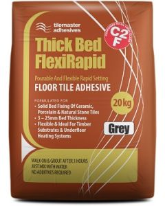 Tilemaster Adhesives Thick Bed FlexiRapid White 20kg