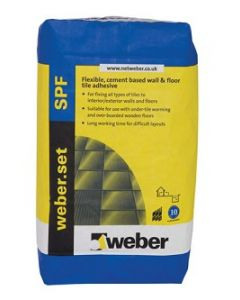 Weber Tile Adhesives Set SPF White 20kg