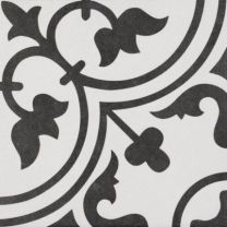 Continental Tiles Codicer Arte White Pattern Wall and Floor Tiles - 250x250mm