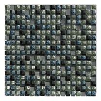 Gemini Mosaics Blue Mix Glass & Stone Tile - 300x300mm