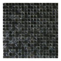 Gemini Mosaics Antracite Mix Glass & Stone Tile - 300x300mm