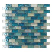 Gemini Mosaics Hammered Aqua Tile - 300x300mm