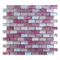 Gemini Mosaics Hammered Pink Tile - 300x300mm