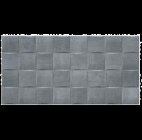Gemini Keraben Tiles Barrington Art Graphite Ceramic Wall Tiles 50x25