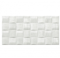 Gemini Keraben Tiles Barrington Art White Ceramic Wall Tiles 50x25