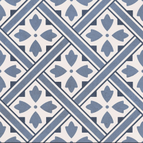 Impex DMJ Durham Blue Porcelain Patterned Wall and Floor Tiles 33x33