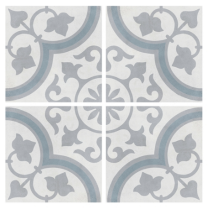 Peronda Tiles Havana Silver Ornate Matt Porcelain Feature Wall and Floor Tiles 223x223