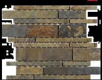 Linear Multicolour Slate Mosaic 350x260mm
