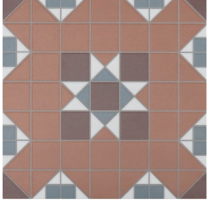 Victorian Heritage York Terracotta Tile - 316x316x9mm