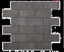 Cemento Dark Grey 96x47 Glazed Porcelain Brick Mosaic