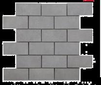 Cemento Light Grey 96x47 Glazed Porcelain Brick Mosaic
