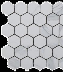 Kendal Bianco Glazed Porcelain Hexagon Mosaic
