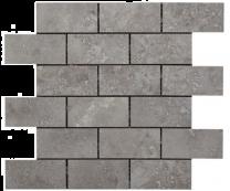 Valley Grey Glazed Porcelain Brick Mosaic 96x47mm