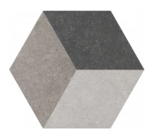 Waxman Traffic dark Hexagonal 25cm Tiles