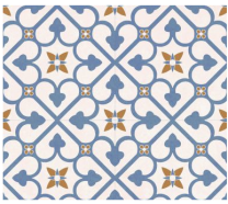 Continental Tiles Halcon Autograph Brighton Blue Feature Wall & Floor Tiles 45x45