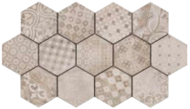 Continental Tiles Rewind Decoro Cementine Mix Tiles - 210x180mm