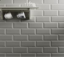Metro Light Grey Wall Tile 100x200mm