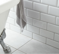Metro White Wall Tile 100x200mm