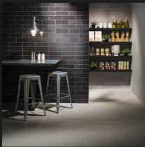 Johnson Tiles Savoy Noir Gloss Décor Tile - 300x100mm