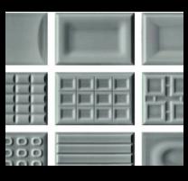 Cento per cento DG gloss dark grey wall tiles