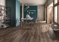 Continental Tiles Imola Kuni 2012TS Dark Brown Wood Effect Floor Tiles 200x1200mm