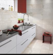 Gemini Tiles Vitra Rainforest White Porcelain Wall and Floor Tiles 600x300mm