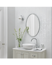 Laura Ashley Cottonwood Feature White wall Tile