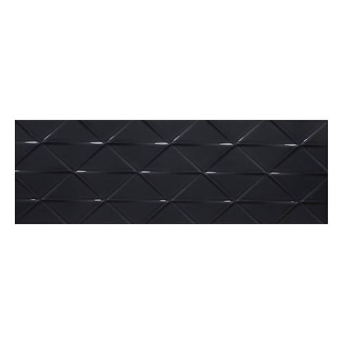 Johnson Tiles Savoy Noir Gloss Décor Tile - 300x100mm