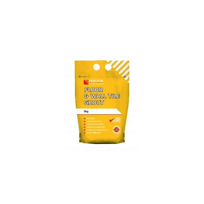 Norcros Adhesives Floor & Wall Grout Grey 5kg x3