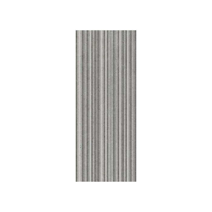 AB Ceramics Metropoli Grey Slot Decor Ceramic Wall Tiles 500x200mm