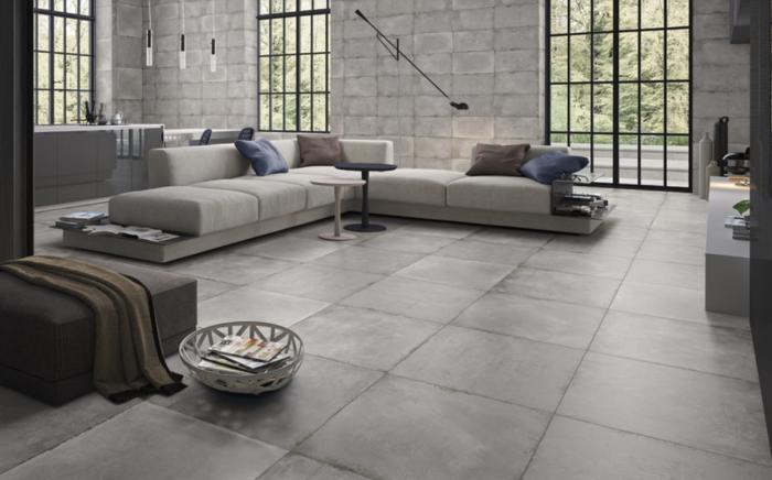 Gemini Tiles Cement Tech White floor tile