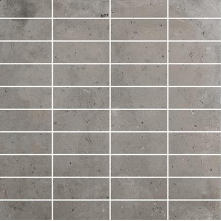 Gemini District Grey Mosaic Tile 70x25mm
