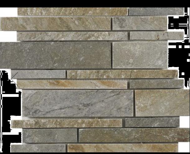 Linear Oyster Slate Mosaic 350x260mm