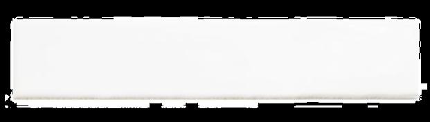 Handmade White Ceramic Wall 75x300mm