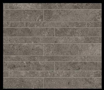 Novabell Tiles Sovereign Anthracite Muretto Rett Mosaic Tiles 60x30