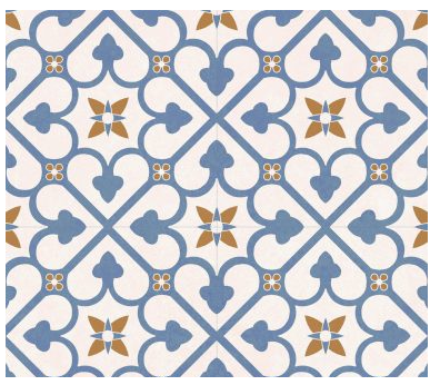 Continental Tiles Halcon Autograph Brighton Blue Feature Wall & Floor Tiles 45x45