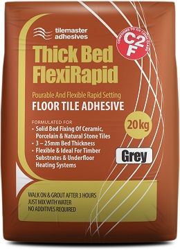 Tilemaster Adhesives Thick Bed FlexiRapid Grey 20kg