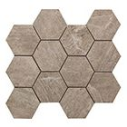 Continental Tiles Sintesi Mystone Taupe Mosaico Hexagonal Wall and Floor Tiles 3034