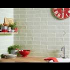 Handmade Sage Ceramic Wall tile  75x300mm