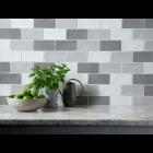 Handmade White Ceramic Wall 75x150mm
